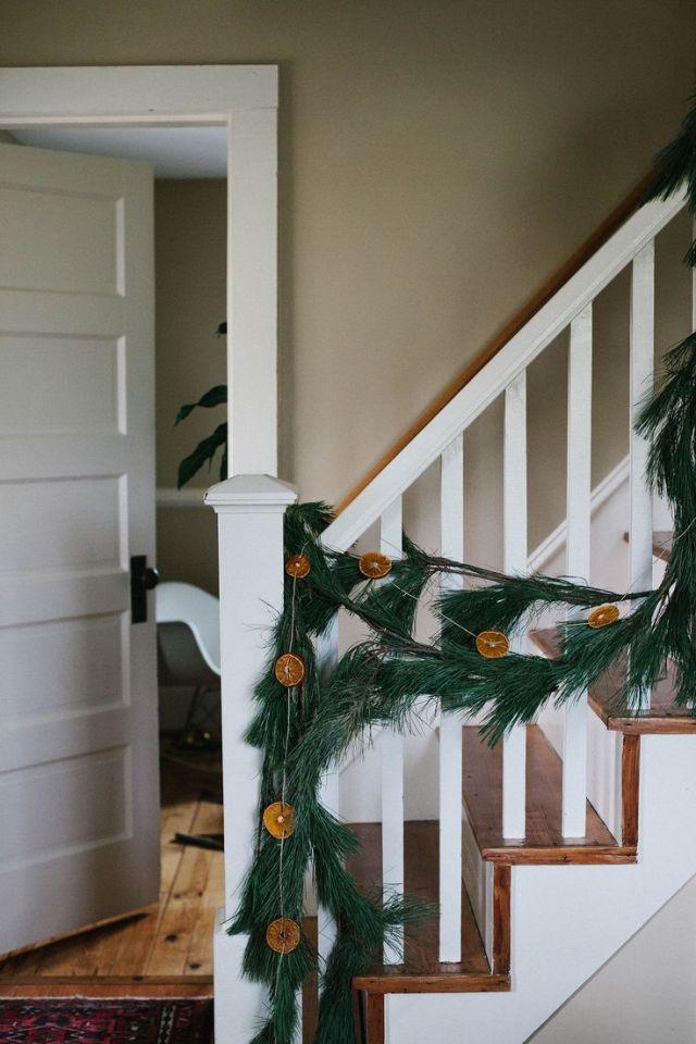Χριστουγεννιάτικη διακόσμηση με πορτοκάλια3
