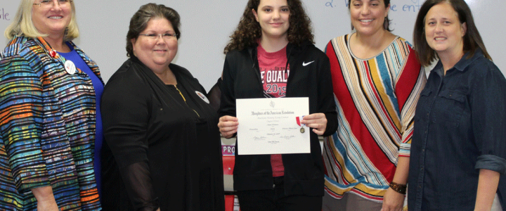 NSDAR American History Essay Contest Bronze Metal Winner Announced
