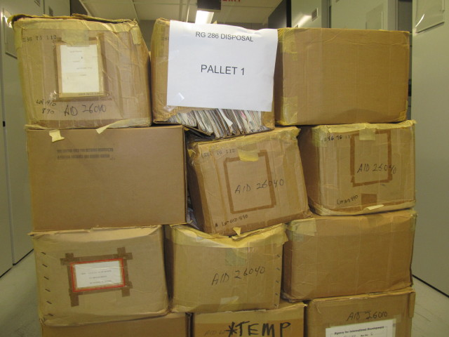 1,300 cubic feet of temporary records, and counting