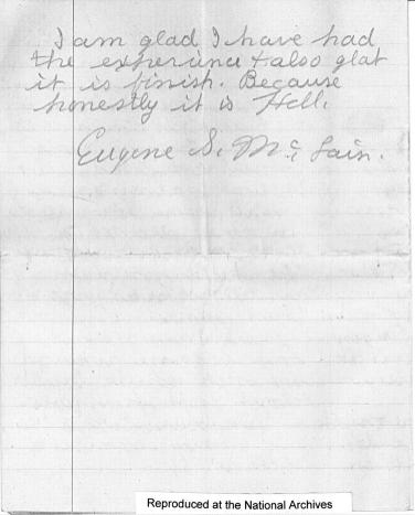 Page 4 of Eugene S. McLain's report from ARC Identifier 301641