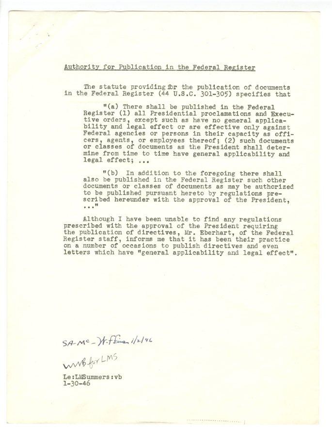 Establishing of National Intelligence Authority and Central Intelligence Group