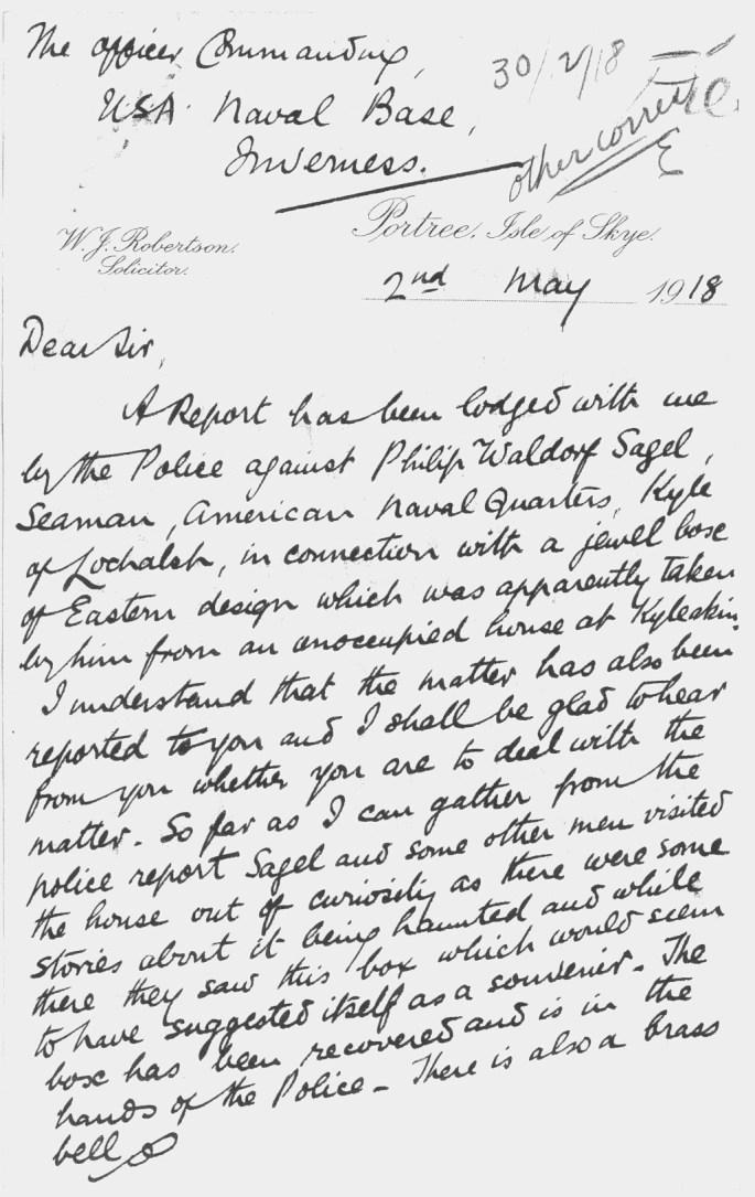 Second handwritten letter