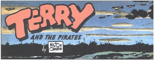 title panel of the comic strip Terry and the Pirates