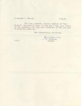 Report of M. J. O'Connor, 6/20/1921