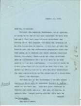 letter regarding the importance of the Pan American Conference