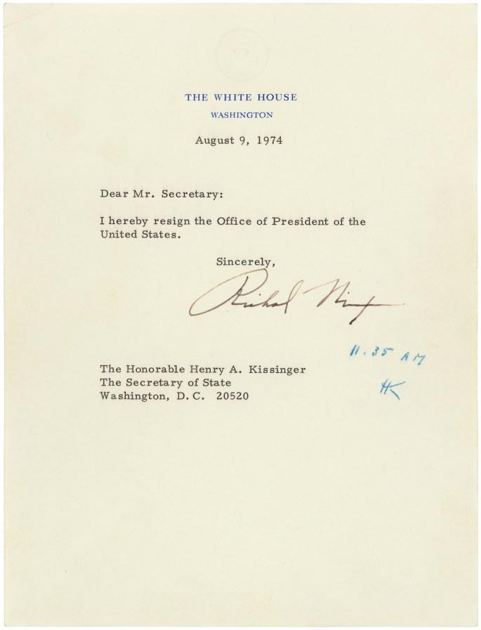 Resignation Letter of Richard NixonAugust 9, 1974 RG 59 00330_2007_001.tif