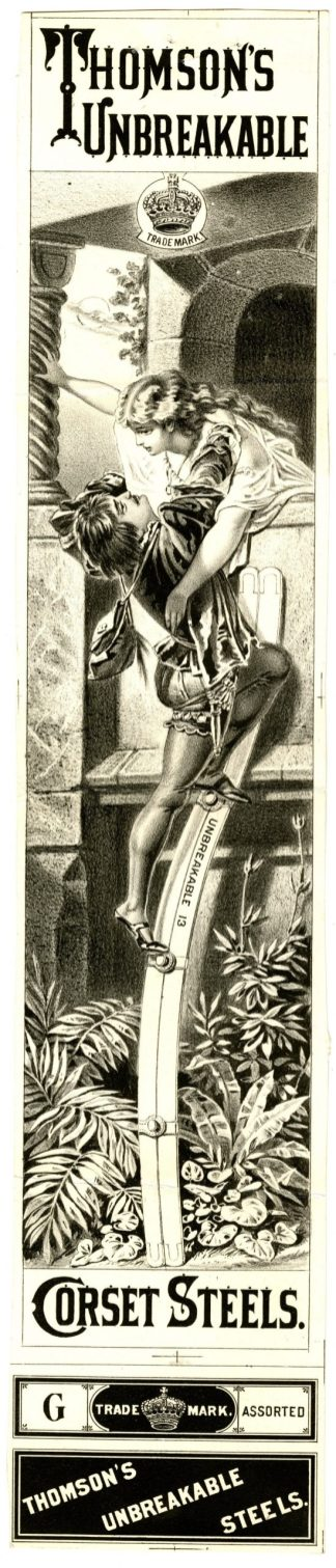 1661 - Thomson's Unbreakable Corset Steels - Thomson, Langdon, & Co., 1878