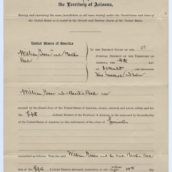 Charges filed against William Greene/Bertha Reed, 12/4/1907