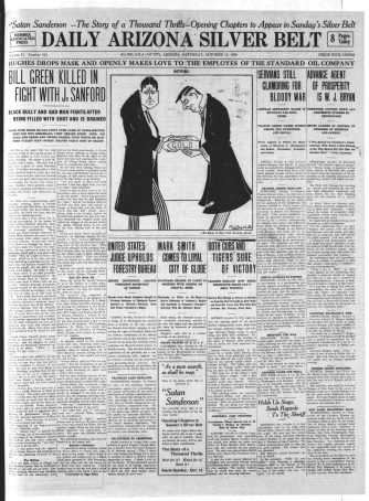 Bill Green Killed in Fight with J. Sanford, 10/10/1908 (obtained from Library of Congress)