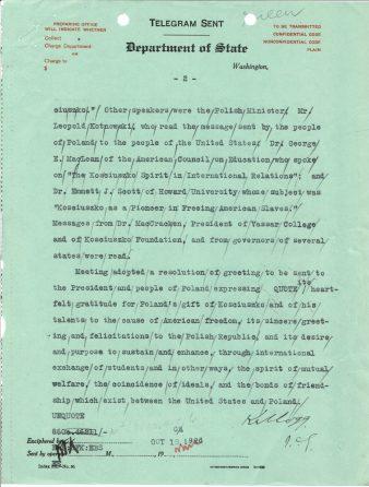 Telegram 46 to U.S. Legation in Poland, p. 2