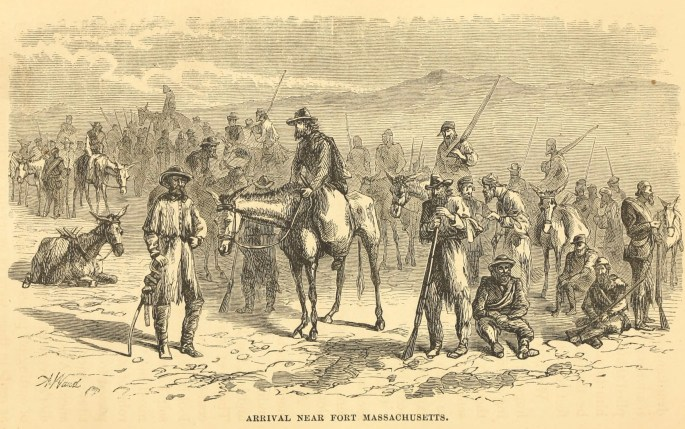 Image of the arrival at Fort Massachusetts
