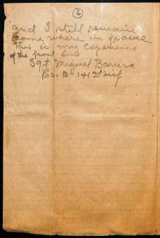 Account of Sgt. Miguel Barrera, 141st Inf, Co. B, 36th Division