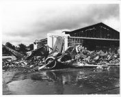 Photograph of U.S. Aircraft Destroyed as a Result of the Japanese Bombing on Pearl Harbor. NAID 12009070.