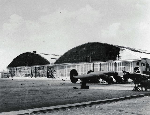 Image of destroyed B-24 Bomber.