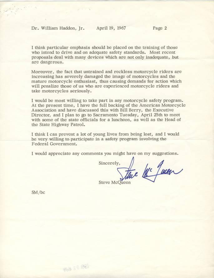 Steve McQueen Letter 2