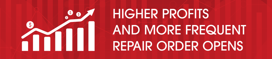 higher profits more frequent repair order opens