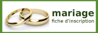 Fiche d'inscription à la préparation au sacrement du mariage