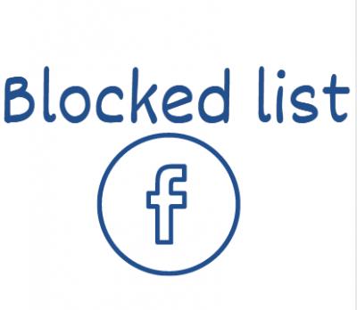 blocked list facebook