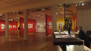 Exhibition space at the Leslie-Lohman Museum