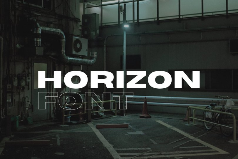Horizon - Wide Sans Serif