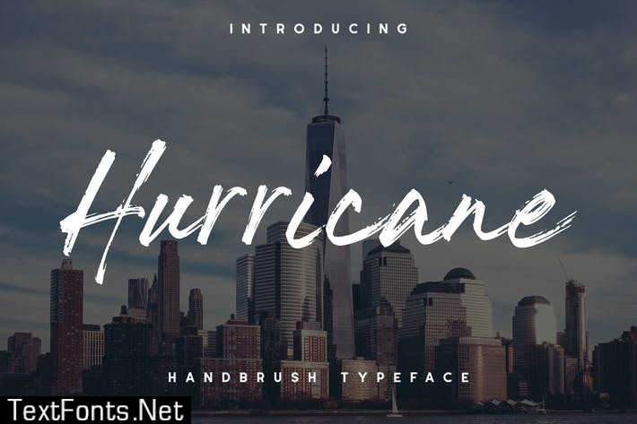 The Hurricane Handbrush Font