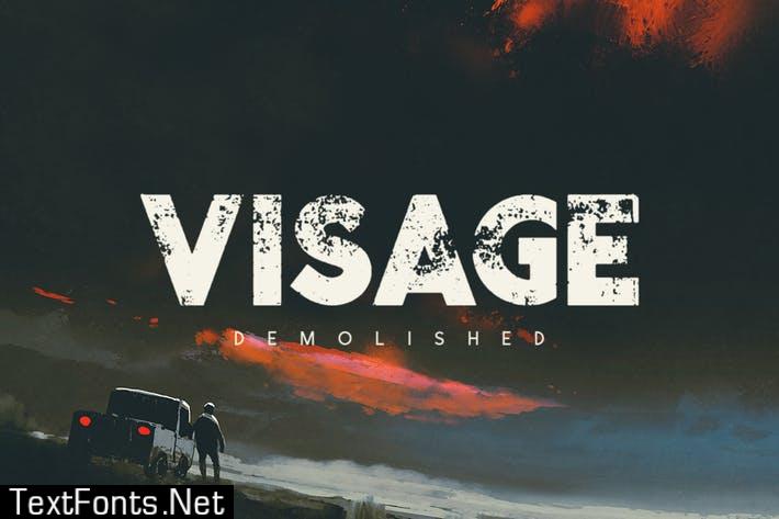 Visage Demolished Font