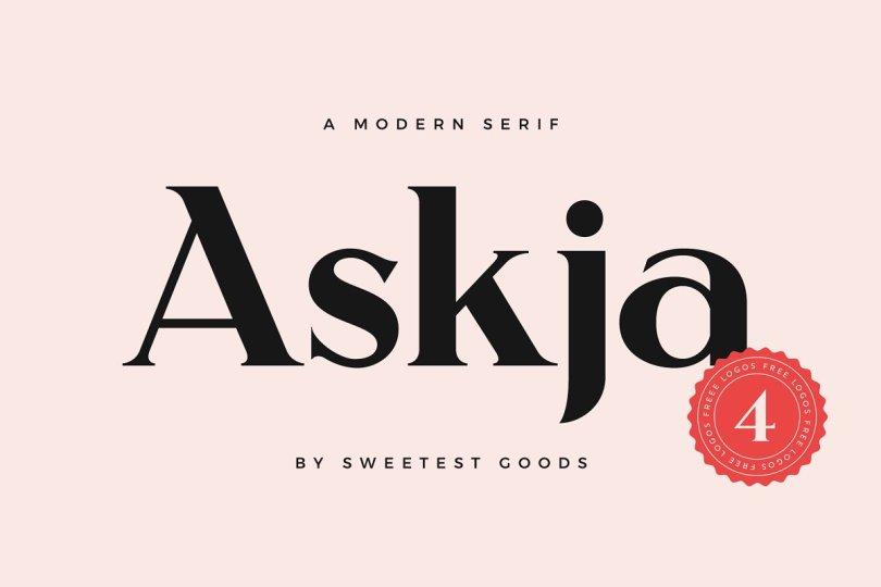 Askja - Modern Font   Free Logos