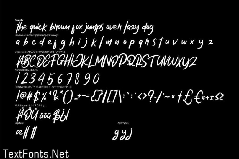 Hillmate   Modern Typeface Script