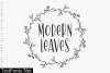 Modern Leaves Font