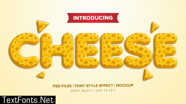 3d cheese font style text effect