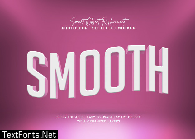 3d style smooth text effect