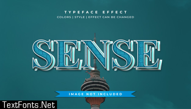Blue embossed text style effect