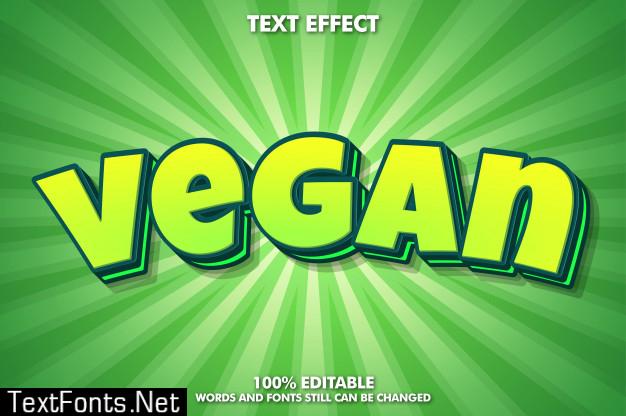 Cute green cartoon text effect
