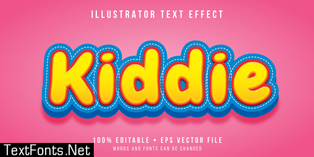 Editable text effect - kiddie style