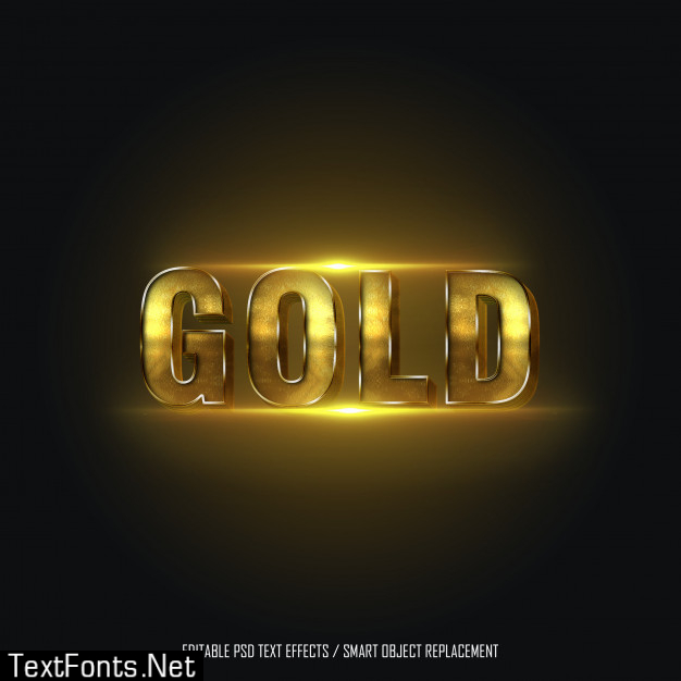 Gold style 2 editable text effect