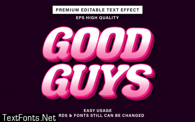Good guys text effect