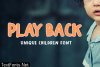 Play Back Font