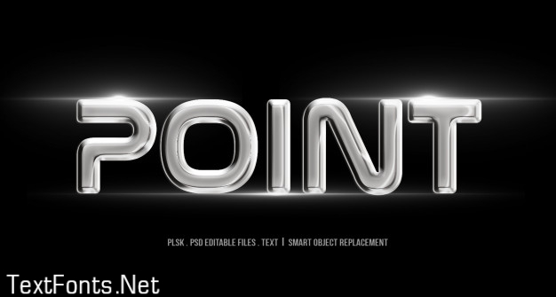 Point 3d text style mockup