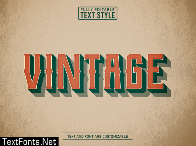 Vintage old school on old paper text effect