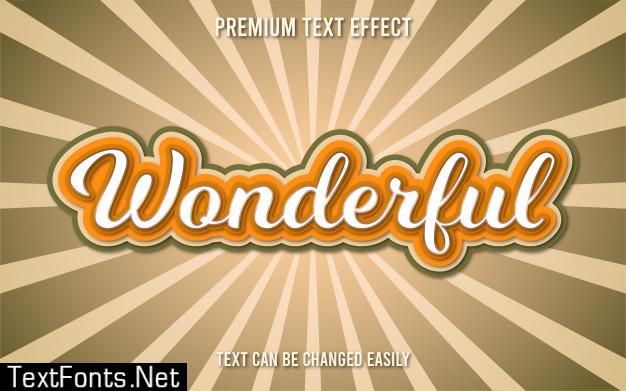 Wonderful text effect