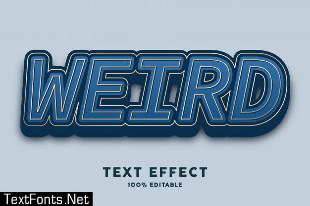 3d bold dark blue luxury elegant text effect