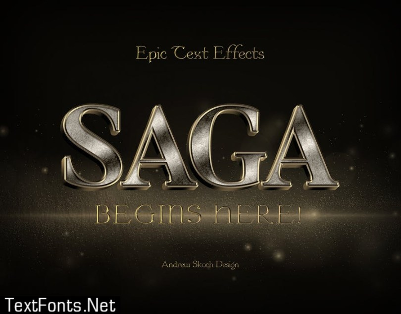 Epic Text Effects B7S2XV3