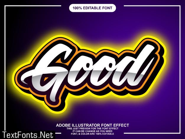 Modern bold lettering on gradient background