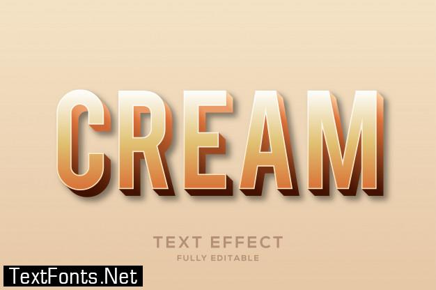 Modern cream color text effect