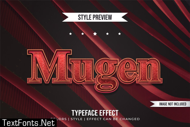 Modern typeface text effect