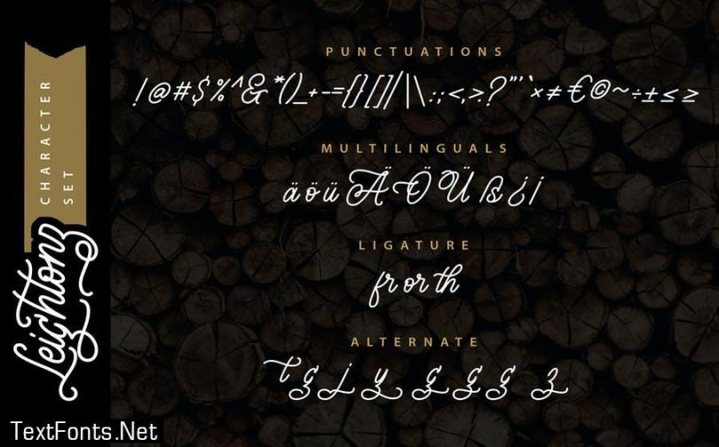 Leightonz   A Finely Handcrafted Monoline Script