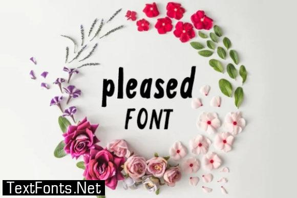 Pleased Font