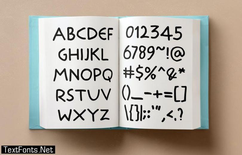 School Stryke - Handwritten font