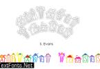 Alphabet Houses Font