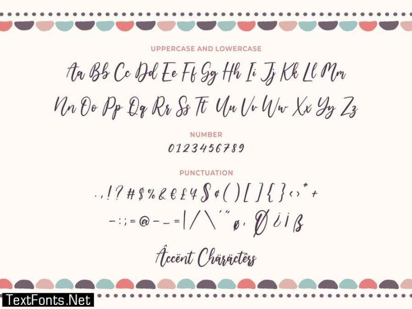Amarila YH - Modern Script Font